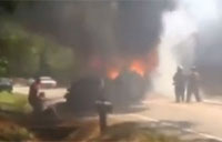 Army Captain Saves 3 from Fiery Wreck