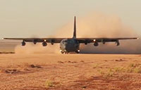 MC-130J Dirt Runway Landing & Takeoff