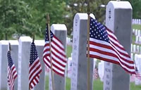 Flags In at Arlington National Cemetery