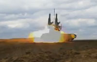 Extreme Close Up of Buk-M2 Missile Launch