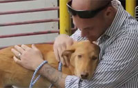 Marine is Reunited With Puppy He Saved