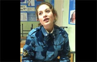 Russian Female Soldier Shows Her Talents