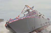 LCS 9 Little Rock Side Launch Freedom-Class