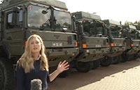 Military Vehicles From Germany Arrive In Bicester