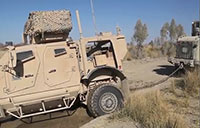 Marine Tow Truck Recovers MRAP and Truck