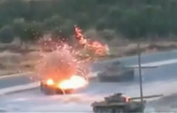 ISIS Tank Convoy Hit By YPG Fighters