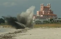 WWII Bomb Blown Up on Florida Beach