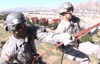 Rappelling from Blackhawks