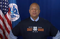 DHS Secretary Wishes Coast Guard Happy Birthday