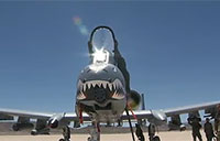 A-10s Land on Fort Irwin Lakebed