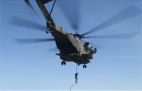 Marines Fast Rope from CH-53