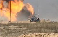 Iraqi Abrams Tank Destroys ISIS VBIED