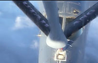 High Altitude Refueling of B-1 Bomber