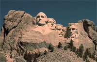 Breitling Jets Fly Over Rushmore