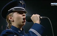 Airman Sings During World Series