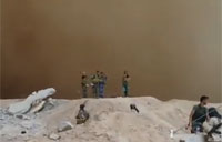 Sand Storm Hits Frontline