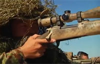 Sniper Rifle Shooting on Target