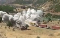PKK Destroys Train in Turkey