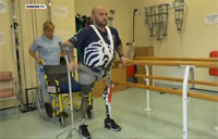 British Double Amputee Takes Big Steps