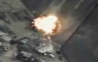 Drone Footage of Russian Airstrikes