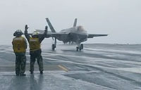 F-35C Arrival on USS Eisenhower