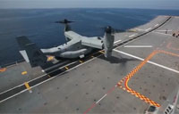 US V-22 Osprey Lands On Spanish Ship