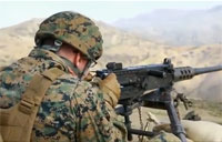 Marines at Machine Gun Range