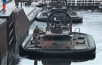 Hovercrafts Squeeze Through Locks of Loch Ness