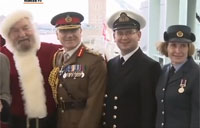 Santa Helps Forces Charity Launch Christmas Boxes