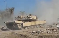 Iraqi Abrams Destroys ISIS VBIED