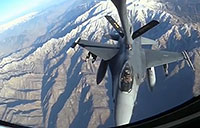 F-16s Refuel Over Afghanistan