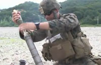 Marines Fire Rockets & Mortars
