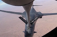 B-1 & A-10 Aerial Refuel Over Iraq
