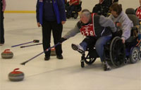 National Disabled Vet Sports Clinic: Chat with a Curler