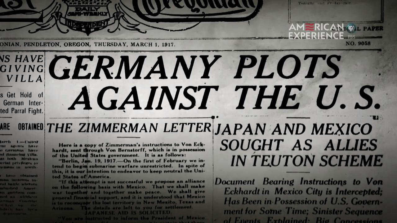 the zimmerman telegram  u0026 the road to the great war