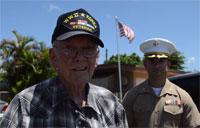 Marines Surprise WWII Veteran