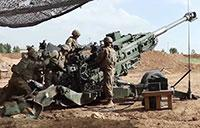 U.S. Army Artillery in Action Near Mosul