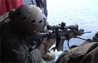 Marines Sniper Training Aboard Helicopter