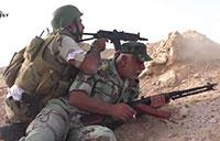 Firefight Between Syrian Army and ISIS in Eastern Syria
