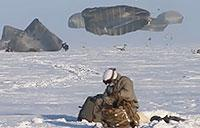 Massive North Pole Paratroopers Static Line Jump from Giant C-17 Aircraft