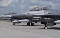 F-16 Fighting Falcons Training at Polish Air Base