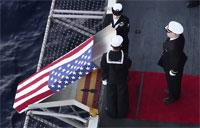 USS Ronald Reagan Conducts Burial at Sea Ceremony
