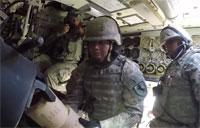 Paladin Howitzer Crew Compartment