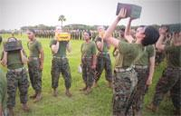 Recruits Test Combat Fitness on Parris Island
