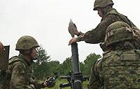 Marines and Japanese Ground Self-Defense Force Shoot Mortars