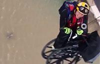 Wheelchair Hoist Air Rescue During Hurricane Harvey