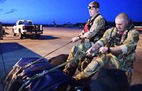 U.S. Navy and Air Force Prepare for SAR Missions Over Texas