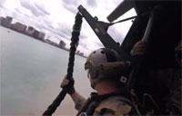 Marines Fast Roping at Marine Week Detroit