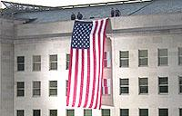 9/11 Pentagon Memorial Ceremony: Flag Unfurling