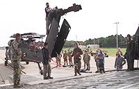 Soldiers Load Blackhawks Onto C-5 Galaxy for Hurricane Relief
